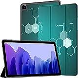 Funda para Galaxy Tab A7 10.4 2020, fórmula de Ciencia química en el Libro Vector Funda de Cuero de PU Plegable para Soporte Auto Wake/Sleep Fit Samsung Galaxy Tab A7 de 10.4 Pulgadas Modelo SM-T50