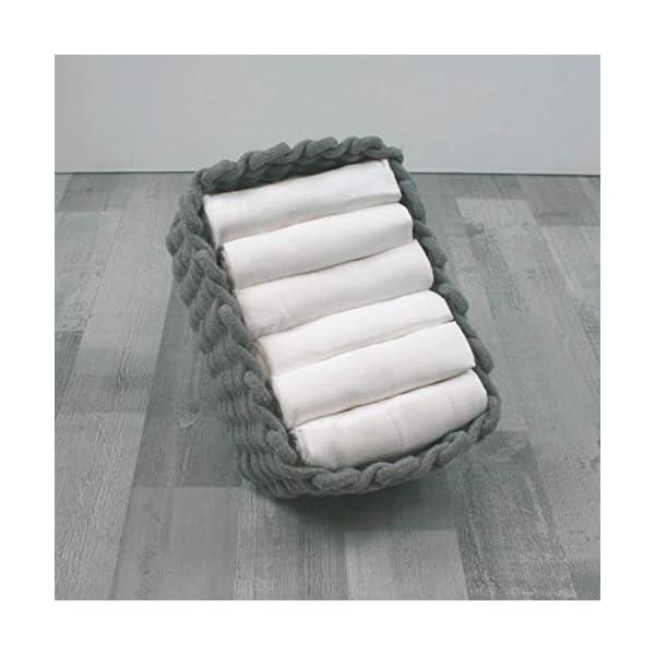 MuslinZ Cuadrados de muselina de bebé 100% algodón de alta calidad de primera calidad 70x70cms (blanco, paquete de 6…
