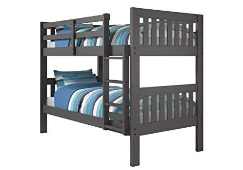 Donco Kids 1010-3TTDG Mission Bunk Bed, Twin/Twin, Dark Grey