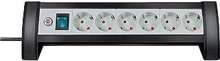 Brennenstuhl Premium-Office-Line, stekkerdoos 6-voudig voor op het bureau (met schakelaar en 3 m kabel, Made in Germany) z...