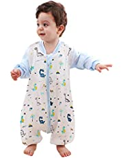 Pijama de Algodón, Peleles para Bebés, Saco de Dormir para Bebés-Saco de Dormir para Bebés con Mangas Extraíbles para Bebés Niños de 1.5-2.5 años de 85 a 95 cm