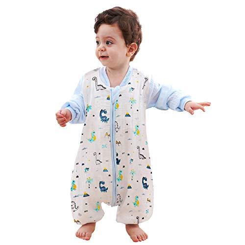 HebyTinco Baby Schlafsack Winter, Abnehmbare Ärmel, Schlafsack mit Füße Schlafsack Baby Babyschlafsäcke mit abnehmbaren Ärmeln für Säugling Kinder 1-3 Jahre alt von 80 bis 95 cm (Blau)