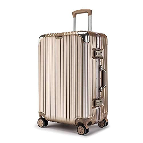 XKstyle Customized Aluminum Frame Suitcase Suitcase Luggage Suitcase Men And Women Students 20 Inches Caster Password Box (size: 22Inch24Inch)