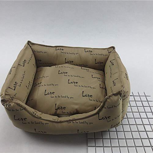 Chengxin Bedden & Meubilair Huisdier Nest Ijs Ademende Kennel Wasbaar Hond Bed Kat Bed Mat Bruin Huisdier Pad 60 * 50CM Bedden & Meubilair