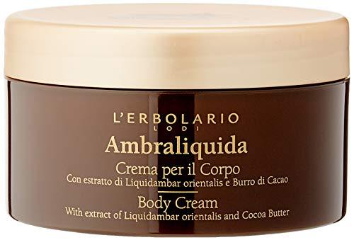 L Erbolario, Crema Corpo Ambraliquida, Trattamento Emolliente e Tonificante, 250 ml