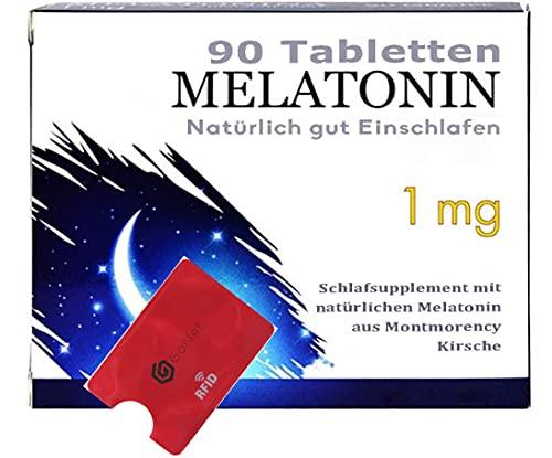 Montmorency Sauerkirsche 90 Tabletten Gute Nacht bei Schlafstörung natürliches Schlafmittel - GRATIS GoNet RFID Schutzhülle