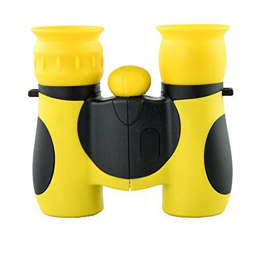 Binoculares Infantiles: un Regalo Ideal para niños pequeños y niñas-Alta magnificación 8x214 5 6 7 8 años de Edad, niños y niñas Juguetes,Amarillo