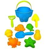 10 stück Sandspielzeug Junge Set, Strandspielzeug Kinder, Strand Spielzeug Sand Set, Sandkasten-Eimer - Formen, ummer Outdoor-Spielzeug Spielzeuglastwagen,für Kinder Outdoor Aktivität