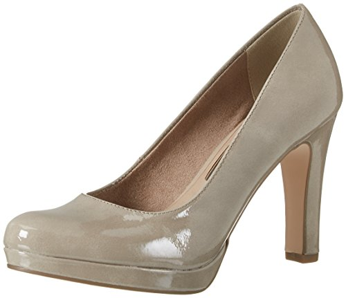Tamaris Damen 22426 Pumps, Beige (Pepper Patent 329), 36 EU