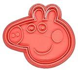 Desconocido Molde Cortador de Galletas - Dibujos Animados Peppa Pig (Coral)
