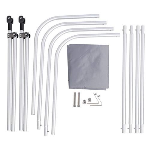 SALUTUYA Varilla de Aleación de Aluminio de Excelente Fiabilidad Parasol de Tela Oxford Recubierto 210D de Alta Confiabilidad, para Bote Inflable