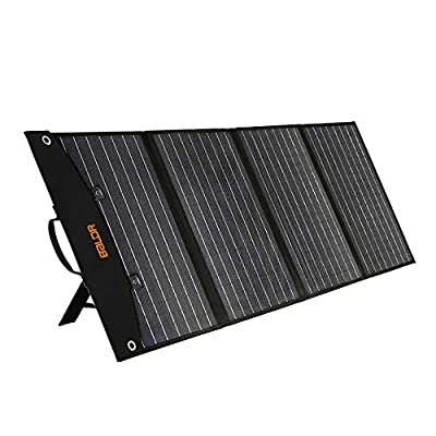 BALDR 120W Portable Solar Panel Portable Power Station Solar Generator, Foldable Solar Cell Charger with Dual USB Ports & 18V DC Output for RV Laptop Tablet iPhone iPad Lamp