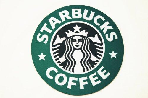 海外限定品!スターバックス/スタバ マウスパッド 1992年ロゴ 旧ロゴ 直径20cm 【並行輸入品】