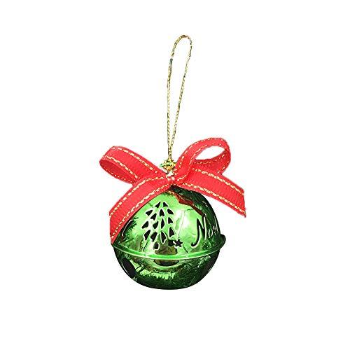 Haodou Campanas de Navidad Cascabeles de Hierro Navidad árbol Familia Ornamento Xmas Baubles Bells Artesanía...