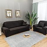 Funda elástica para sofá, Fundas de sofá para sofá de 3 Cojines, Funda de sofá Suave Antideslizante de Jacquard de Spandex, Protector de Muebles con Fondo elástico