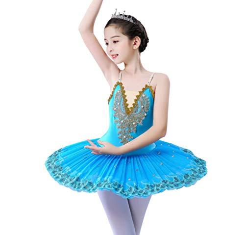 ZYLL Cisne nias Ballet Dance Dress Nio Lago de los cisnes Ballet Vestido de la Danza de la Bailarina Ropa Pancake Figura Vestido de Patinaje,150CM