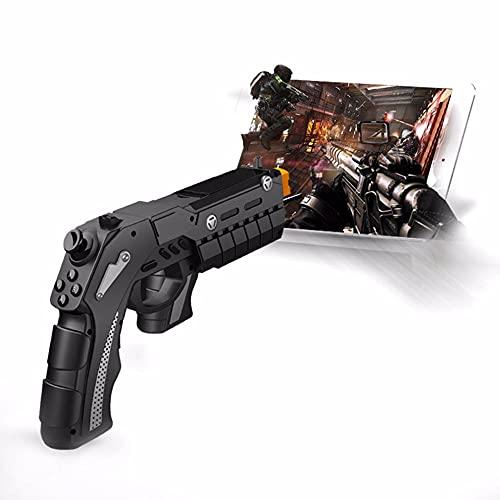 ZDSKSH AR Gun Toy 4D Juego de detección remota Gamepad Smart Bluetooth Pistol w/Phone Holder VR Game Handle Gun Juguetes al Aire Libre para Android iOS