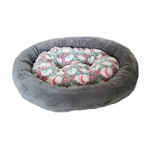 Monbedos Hondenmand Hondenmand Rond warm diepslaap huisdierbed voor buiten en thuis - Grijs
