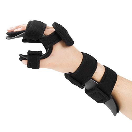 REAQER Férula para Muñeca de Mano Muñequera Apoyo Artritis Túnel Carpiano ayuda de la muñeca promueve la recuperación rápida de lesión de la mano(Derecha L)