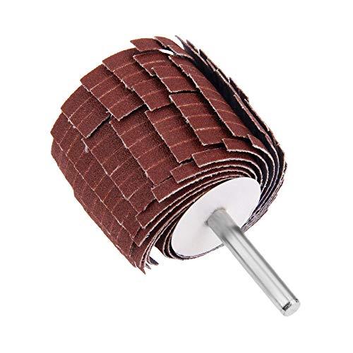 GFHDGTH 1Pc 150-400 Schuurflapwiel, Dremel-accessoires6 mm schacht Schuren SlijpenSchuurpapier Sluiterwiel voor rotatiegereedschap, korrel320