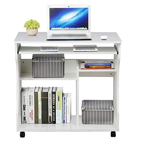 Yaheetech Movable Computer Office Desk Table Workstation Home...