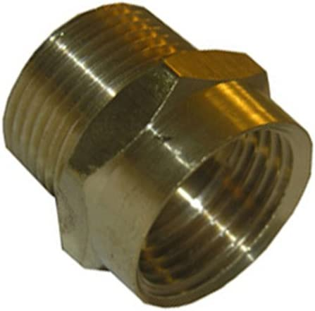 LASCO 15 1713 3 4 Inch Male Garden Hose Thread by 3 4 Inch Female Pipe Thread Brass Adapter product image