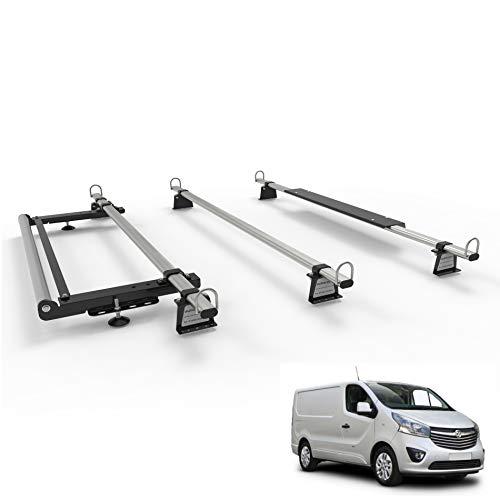 Opel Vivaro (2014–2019) MK2 AutoRack WorkReady Van Dachträger 3 Stangen mit Rollenset