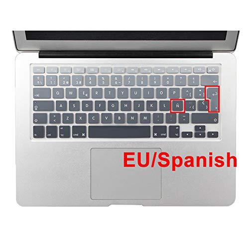 Euro Español Inglés Francés Rusia agua Cubierta de teclado a prueba de polvo Old air 13 A1314 protector Retina 13 15-EU Español Gris