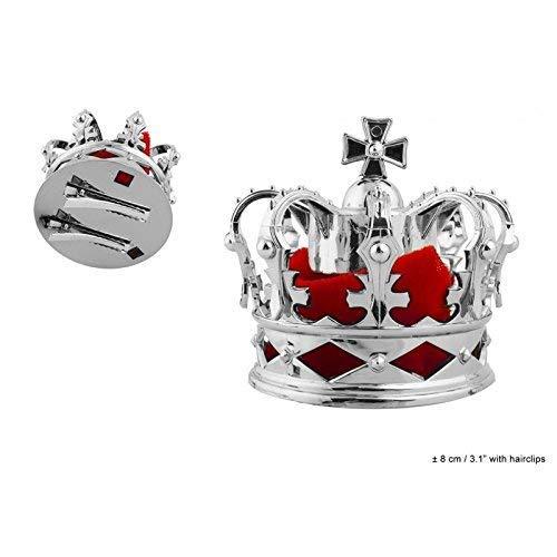 Lively Moments Petits Couronne de Roi / Couronne de la Reine / Couronne / Couronne en Couleurs Argentées