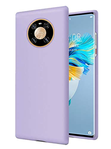 RZANTS Liquida Silikon Sanft Hülle Kompatibel mit Huawei Mate 40 Pro,Ganzkörperschutz Shockproof Cover Hülle Fallschutzhülle für Huawei Mate 40 Pro Handy HandyHülle (Violett)