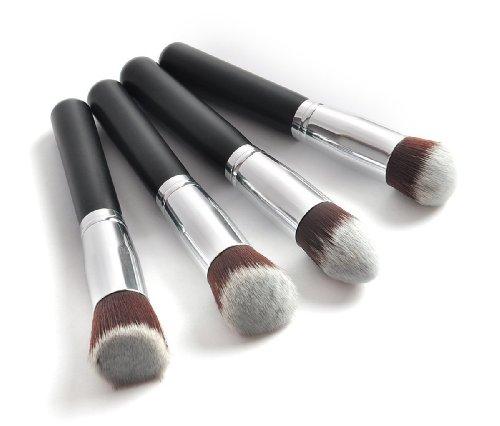 LIFECART 4pcs maquillage cosmétique professionnel Fondation poudre Brush Set - Silver