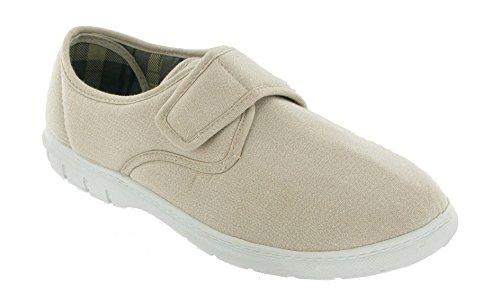 Mirak Mens Harvey Casual Canvas Shoe Beige Size UK 6 EU 39