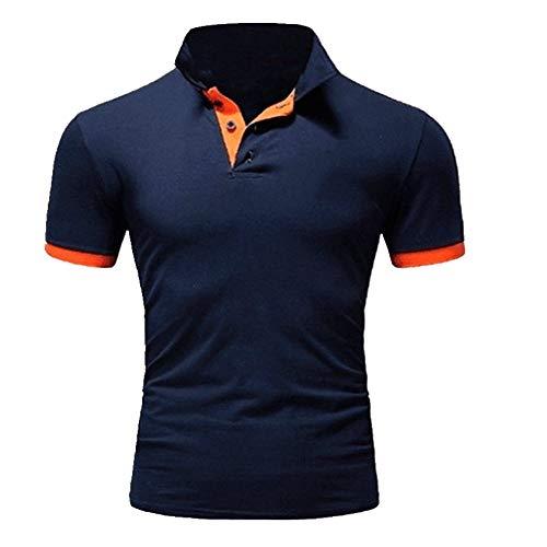 Camiseta de manga corta para hombre, informal, solapa, manga corta, para hombre