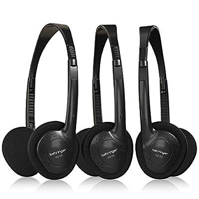 Behringer HO 66 Stereo Headphones Pack of 3