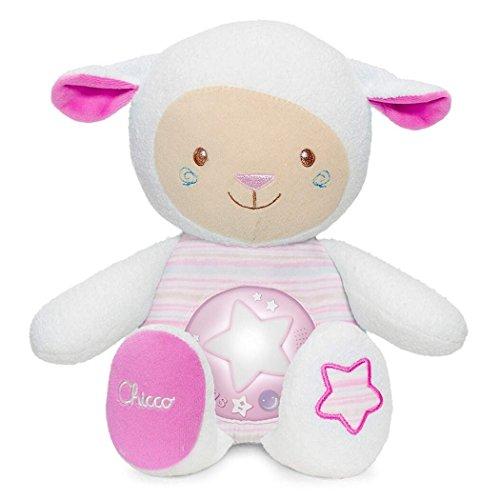 Chicco First Dreams Berceuse Peluche Mouton avec Veilleuse et Musique Relaxante, Enregistrement de la Voix et Capteur de Sommeil - Jouets pour Bébé et Enfants - dès la Naissance - Rose