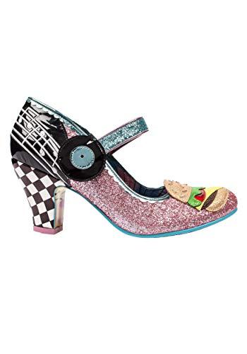 Irregular Choice 'Jitter Bug' Retro Diner Pink/Blue Heels Size 6.5