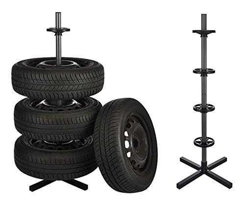 Haushalt International Reifen- und Felgenbaum für bis zu 4 Autoreifen