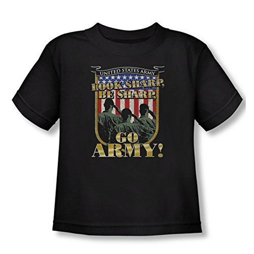 Army - - T-shirt pour Go, 2T, Black