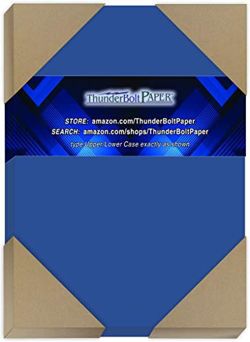 "250 Bright Royal Blue 65# Cardstock Paper 5"" X 7"" (5X7 Inches) Photo