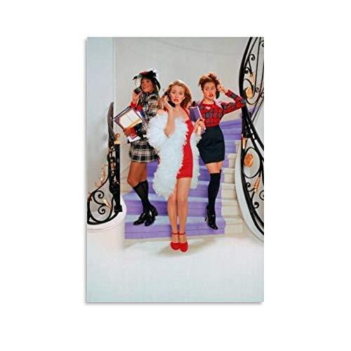Yuhui Clueless Filmposter, Textless Stairs Poster, dekoratives Gemälde, Leinwand, Wandkunst, Wohnzimmer, Poster, Schlafzimmer, Malerei, 30 x 45 cm
