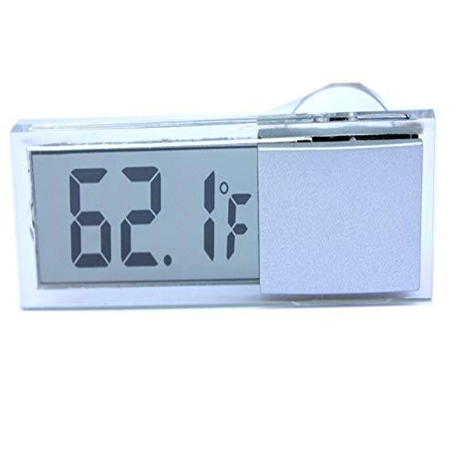 Konesky Digital Window Thermomètre LCD Voiture Température Mètre Véhicule Stick-on Station Météo