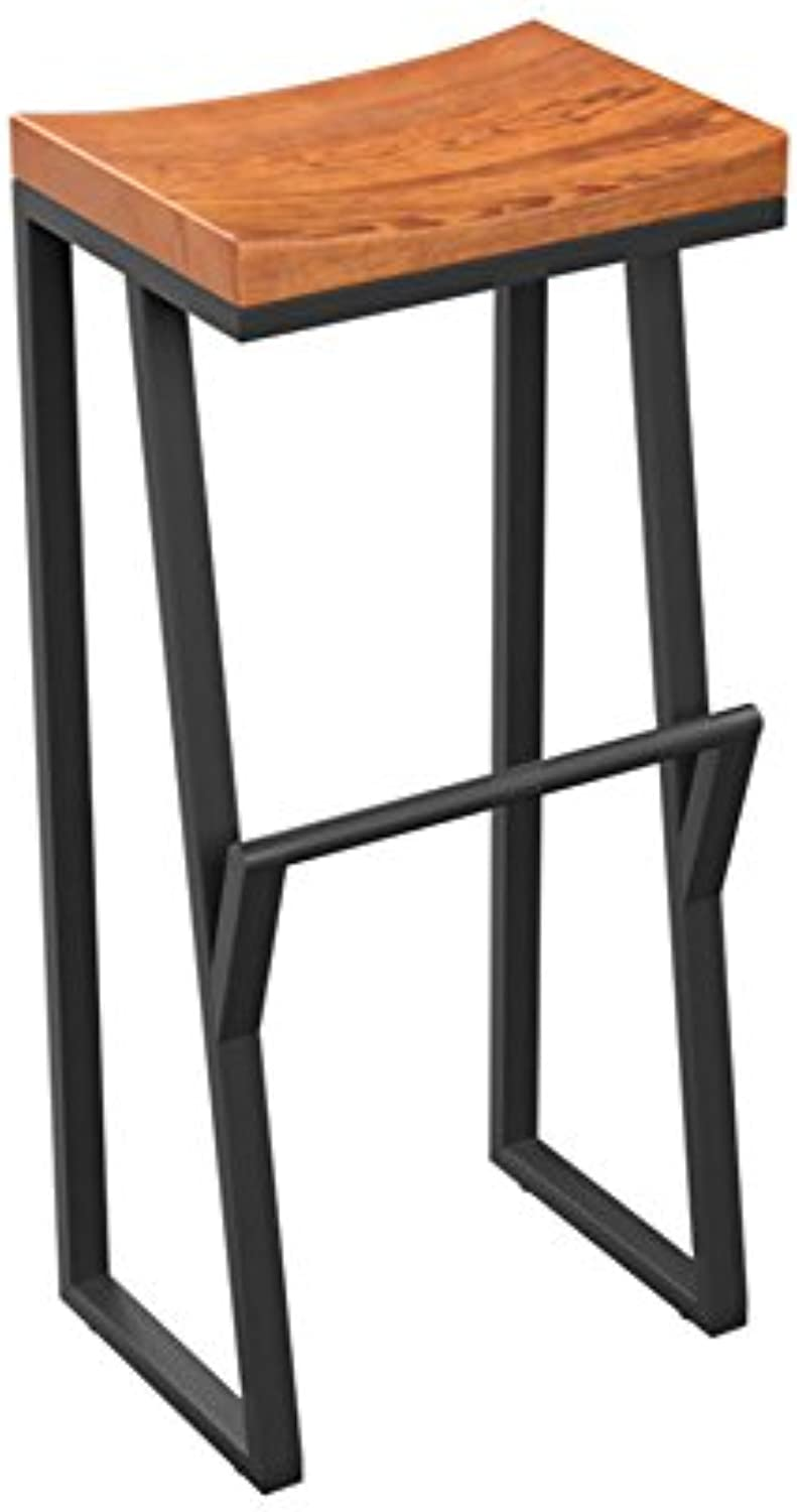 Bar Chairs, Round Stool High Stool Dining Chair Iron Chair Height 63-85cm Modern Style (Size    1)