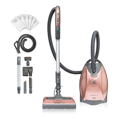 Kenmore BC7005 Pet Friendly Crossover Bagged HEPA Canister Vacuum Cleaner 2-Motor Power Suction with Pet PowerMate, Extended Telescoping Wand, Retractable Cord, and 4 Cleaning Tools