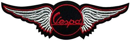 Vespa Sports Scooter Rider Motorcycle parche patch bordado con logotipo para planchar de hierro en apliques de recuerdo de accesorios