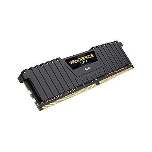 Corsair Vengeance LPX modulo da 16 GB (1 x 16 GB) DDR4 3600 (PC4-28800) C18 1,35 V, ottimizzato AMD Ryzen – Nero