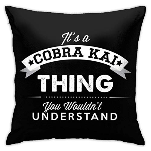 v-kook-v Its A Cobra Kai You Wouldnt Understand Pillowcase, Double-Sided Printing, Hidden Zip Pillowcase, Beautiful Printed Pattern Pillowcase 18inch18inch