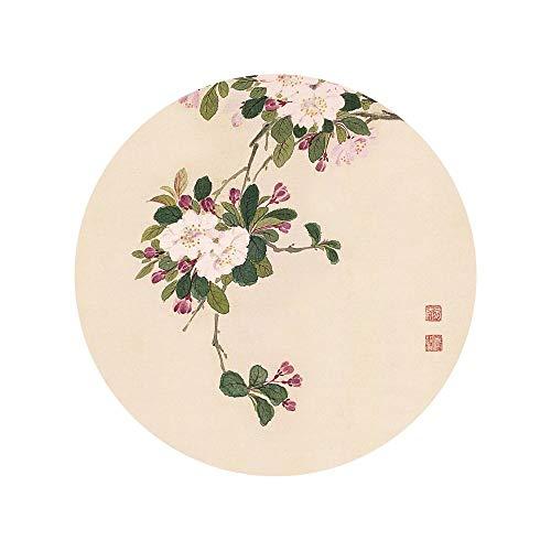 WSNDGWS Schilderij, Chinese inkt, vier seizoenen, bloesemtak, inkt, schilderij op canvas, zonder lijst 40x40cm D3