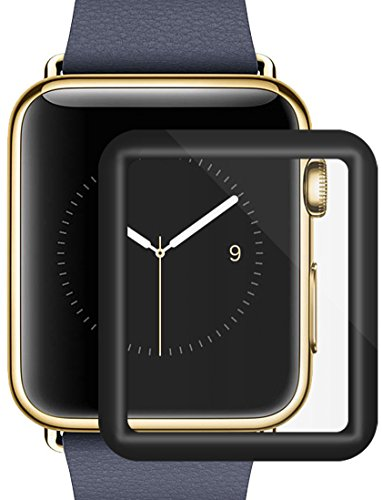 Apple Watch Screen Protector –Celltronics Tempered Glass Iwatch 42mm Screen Protector, Anti-Bubbles, Scratch Resistant, Full Screen Coverage for Apple Watch 42mm Series 3/2/1 (Black)