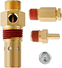 Hromee Air Compressor Replacement Components Brass 1/2 Inch MNPT Compressor in Tank Check Valve Kit with Three Different Unloader Tube Fittings 20 SCFM 4 Pieces