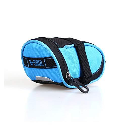 WWZS CRDZSW - Bolsa de nailon para sillín de bicicleta, bolsa de accesorios para montar a caballo, resistente al agua, herramientas de mantenimiento para montar en bicicleta, color azul